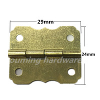 Yiwu supplier brass plated metal hinge for wooden box 180 degree hinge