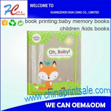 High quality & cheap price CMYK full color writing pages hardcover baby memory book with stickers with photo album set