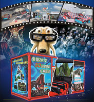 Exhibition Mobile 5D 7D cinema on truck/amusement park games factory/5d Theater Rider in a Trailer New!