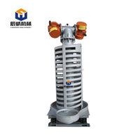 High capacity vertical vibrating screw elevator machine for rock salt