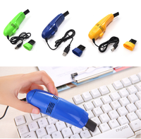 Hot Sales Useful Mini USB Vacuum Cleaner Dust Collector Convenience Computer Desktop Keyboard Dust Cleaning Brush
