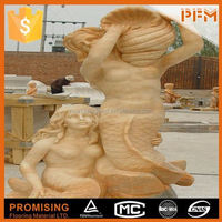 Luxurious decorative for home hand-craved snow white statue