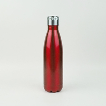 17 oz unbreakable cola shaped stainless <strong>sports</strong> red tumbler water bottle