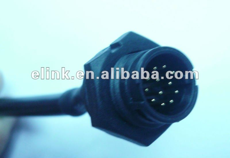 IP68 Waterproof 12 pin Connector Cable