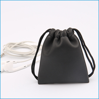 pu leather drawstring bags for jewelry custom dust bag