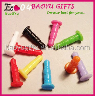 BY-M-3 Colorful 3.5mm PVC dust plug phone Mobile Phone anti dust plug