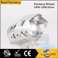Factory direct Big Silver wolf LED motorcycle Headlight lamp with laser light