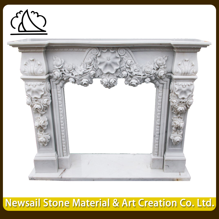 High End Granite Fireplace Surround Mantel For Home Decor