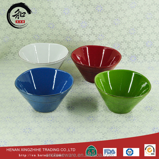 Cheap from China famous supplier large ceramic chinese soup bowls