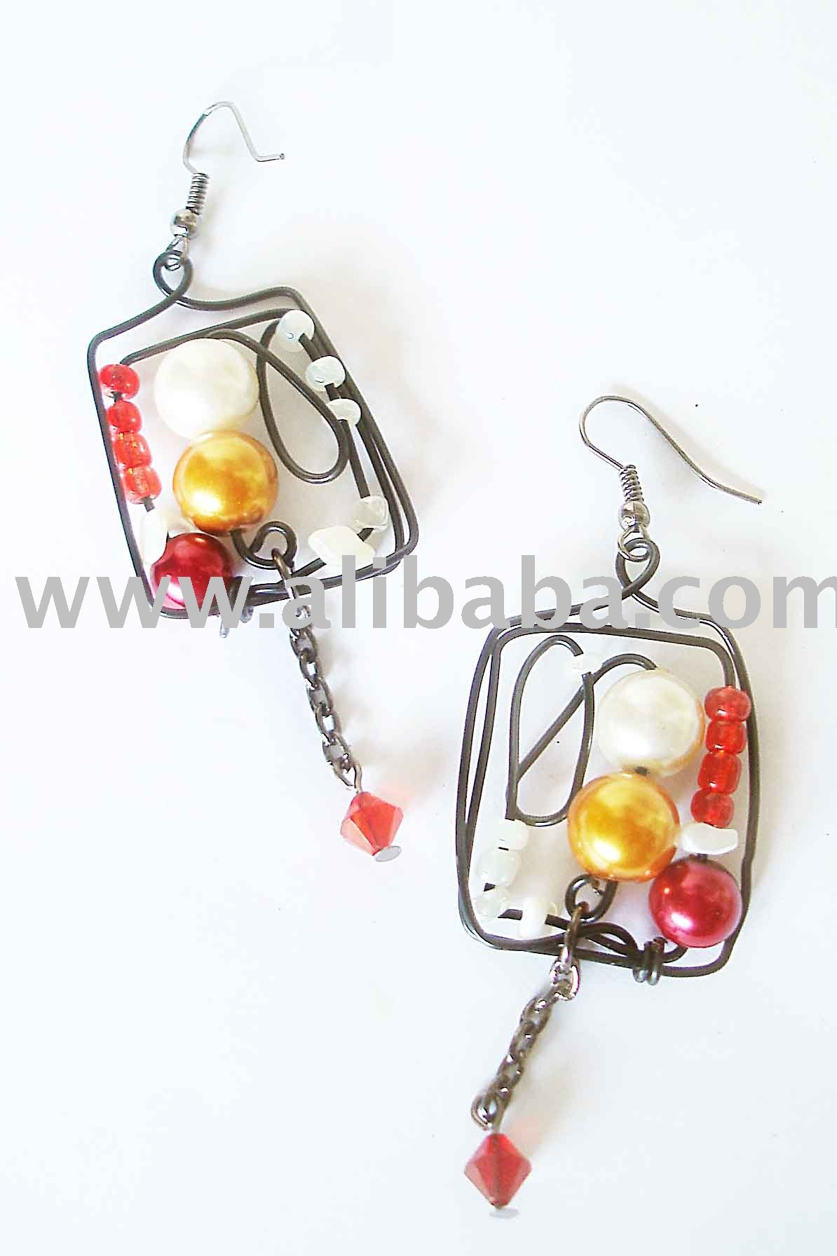 wired alum Earrings