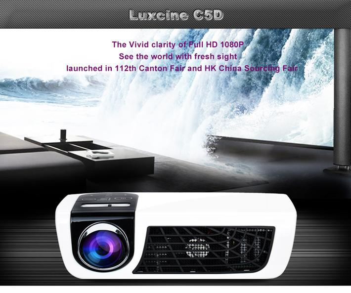 Cheap 3D LED Home Theater Projector C5D With Active Shutter 3D Glasses