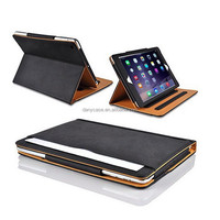 Wholesale Black Tan Leather For Ipad Tablet Case,highr quality Tablet cover