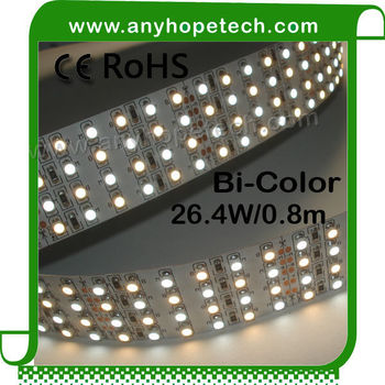 High performance good price bicolor 240leds double led strip