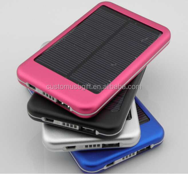 Solar Power Bank Charger Battery Portable Mobile power 5000mah solar gifts power bank