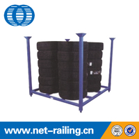 Stacking folding metal commercial steel truck tire