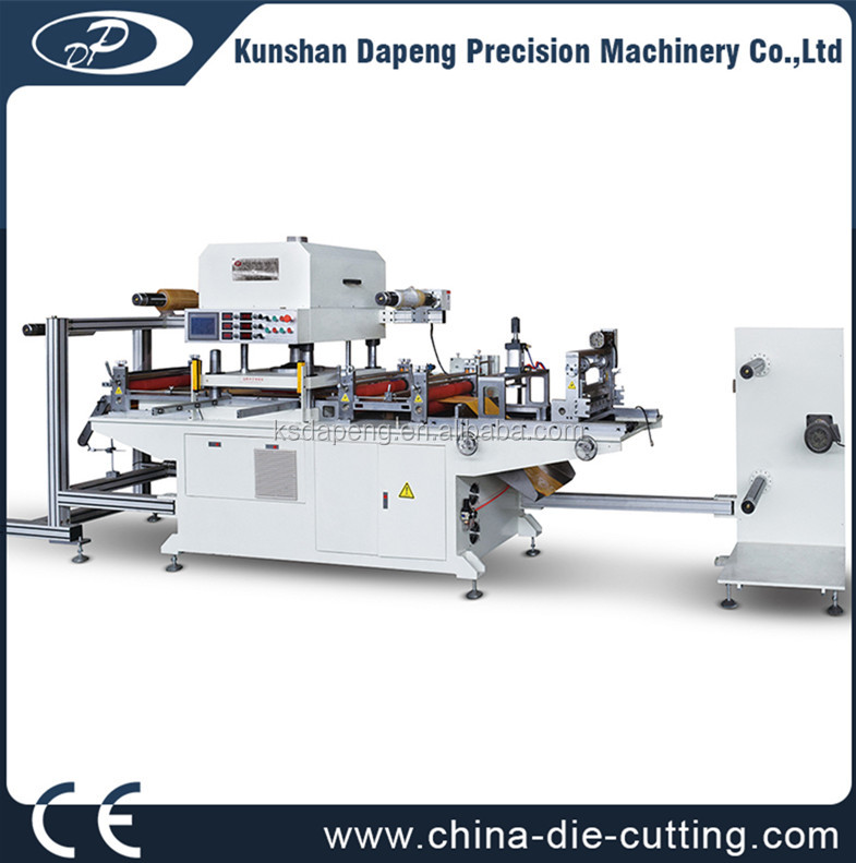 automatic PVC PET PP boxes creasing and die cutting machine.roll material crease and die