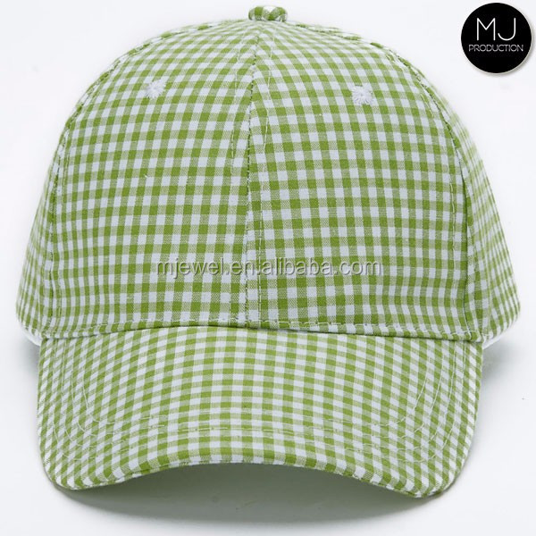 Stocked monogram gingham hat