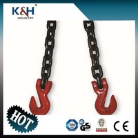 "Galvanized chain with clevis or eye grab hooks on both end high test 5/16""X30' heavy duty tow chains"