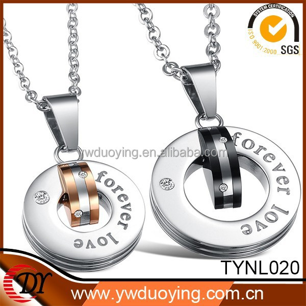 2015 Valentine's Day Forever Love Fashion Couple Ring Pendant Necklace