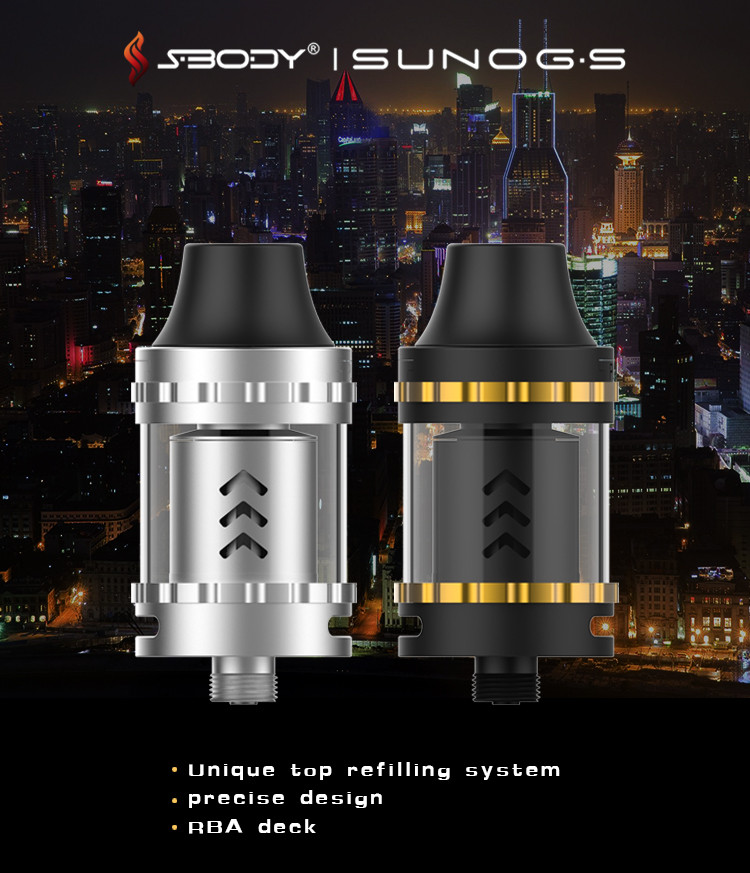 S-BODY 2017 fantastic rda rta atomizer for philippines