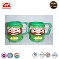 ICTI certificated custom made kids double wall plastic mugs with handle