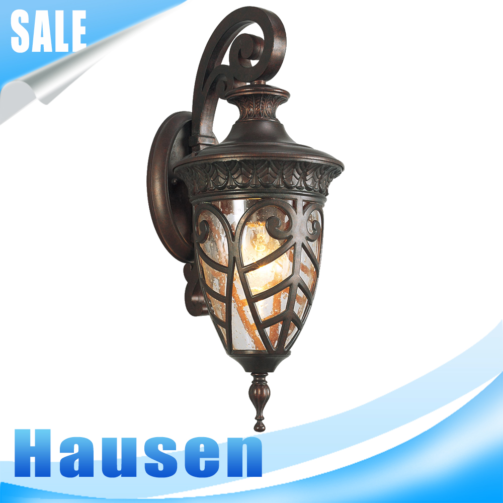Cheap hot sale modern waterproof cast iron outdoor wall light(HS0518-DN-M)