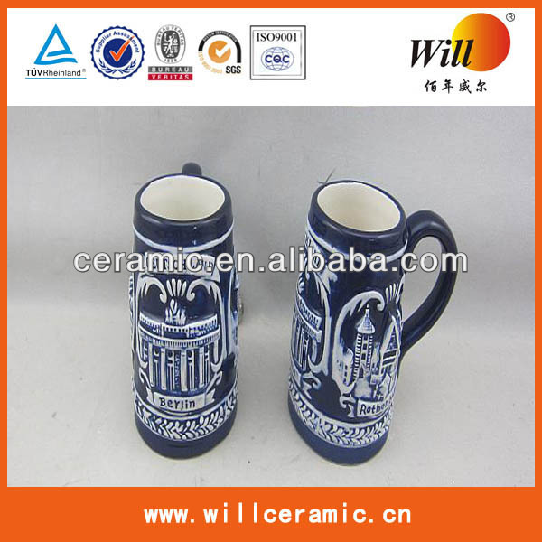 hot sale antique ceramic beer mugs