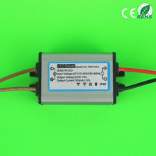 5W PF0.6 300mA LED constant current driver IP65 waterproof