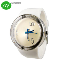 Simple Design Lady Men Colorful Silicone Watch