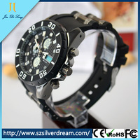 Fashion Army Style Silicone Outdoor Men Sport Wristband Watch