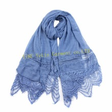 new design beautiful popular luxury top quality manufacturer wholesale polyester joint triangle lace scarf
