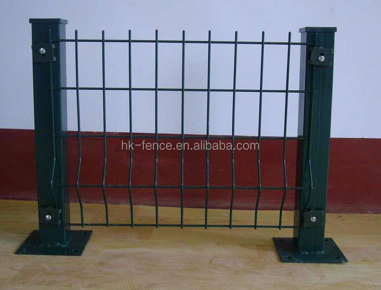 1730*2500 mm powder coated curved welded wire mesh fence panel