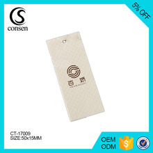 China custom logo paper label price clothing hang tag with brand name