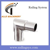 stainless steel rail tees glass wall 90 degree elbow pipe fitting grooved fitting elbow