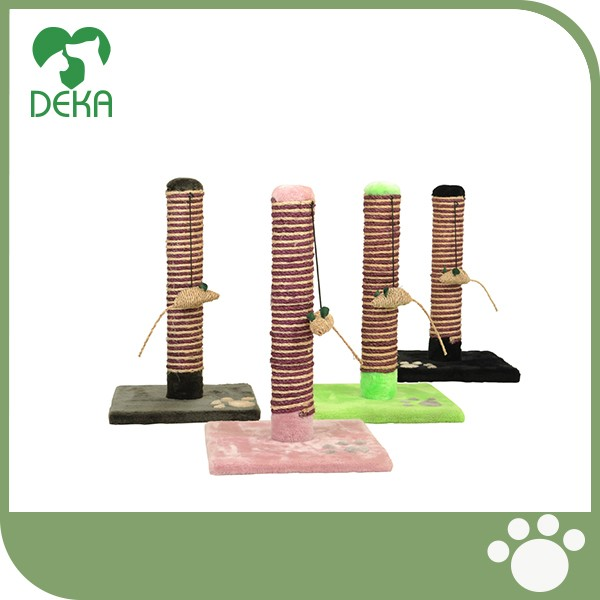 Hot selling natural sisal cat scratching post funny cat toy