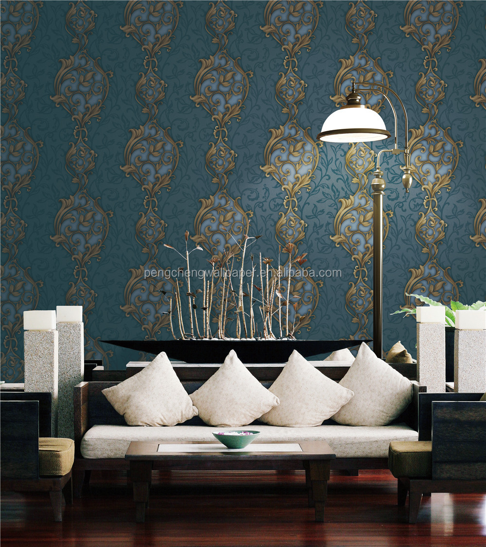2017 new beautiful wall paper arabic design for home decoration