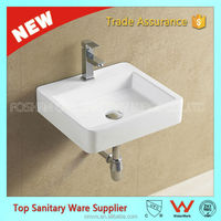 new design ceramic sinks wall hung hand basin