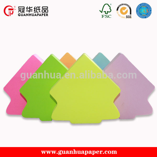 Discount any shaped design cute die cut different memo pads sticky notes