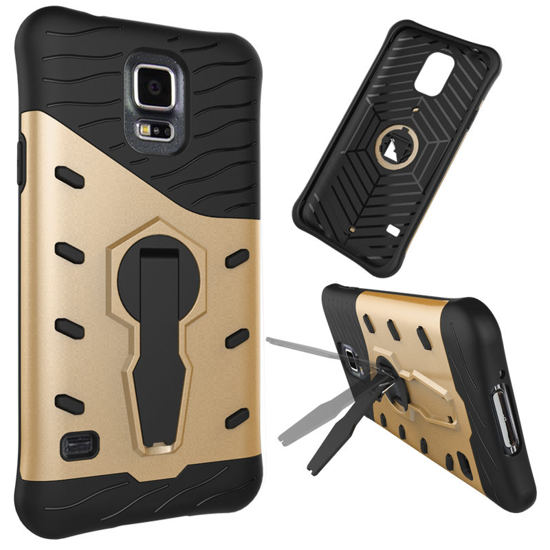 phone <strong>accessory</strong> 360 2 in 1 degree rotation kickstand armor case for Samsung Galaxy S5 hard case