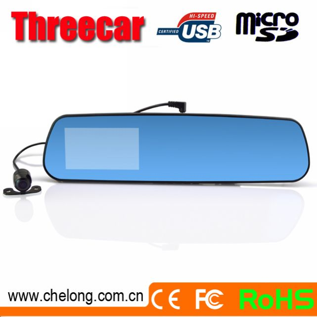 Android 4.0.3 350deg rotating lens GPS navigation Bluetooth Wifi rearview mirrors cover