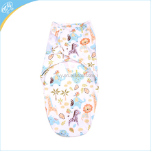 Cute Animals Print Baby Swaddle Wrap Envelope Newborns Sleeping Bag For 0-3 Month For Summer