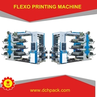 Six Color Plastic Poly Bag Flexo Printing Machine Price