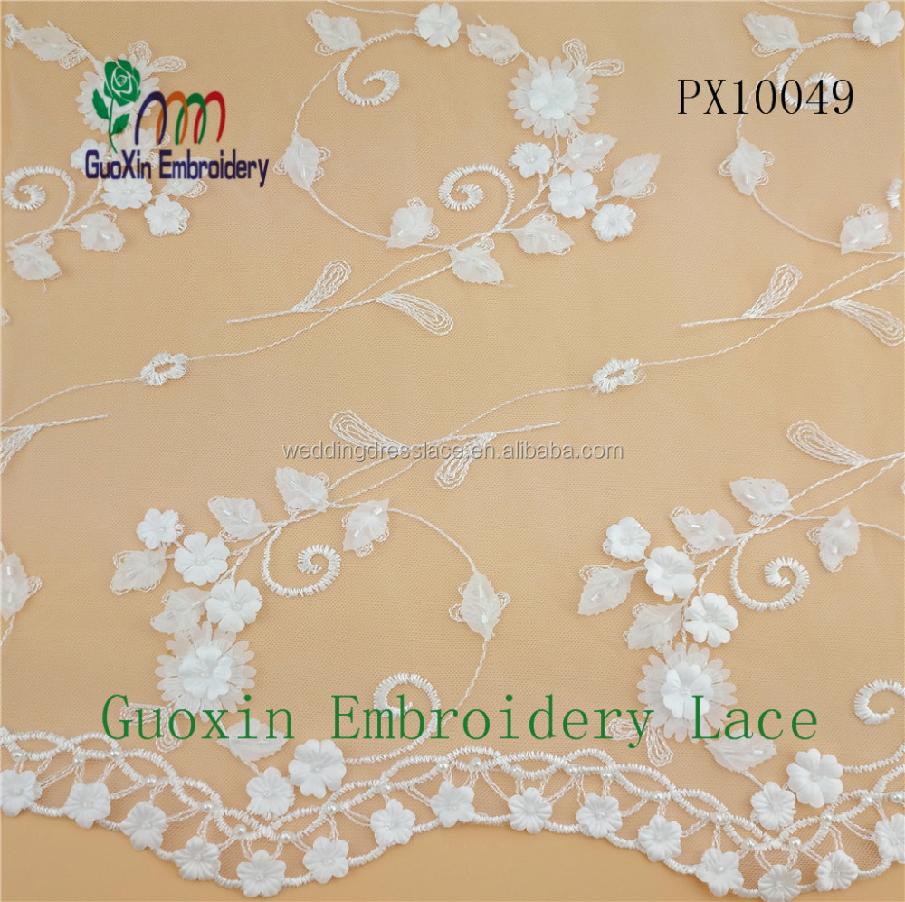 Light handwork 3D embroidery lace for wedding dress and women dress