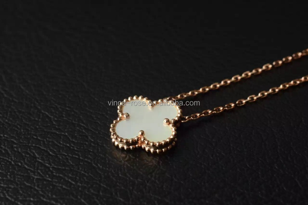imitathion jewelry import from china mother pearl clover necklaces jewellery