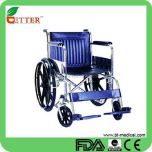 High Quality Steel Folding Chromed Manual Wheelchair