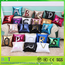Fashion New DIY Two Tone Glitter Mermaid Sequins Throw Pillows