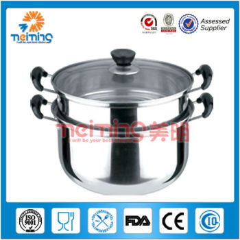 26cm double ears stainless steel food steamer, steam cooker