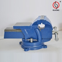 Various types and models of 83 type heavy duty bench vices with anvil swivel base made in China