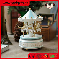 wedding favors wooden toy carousel music box