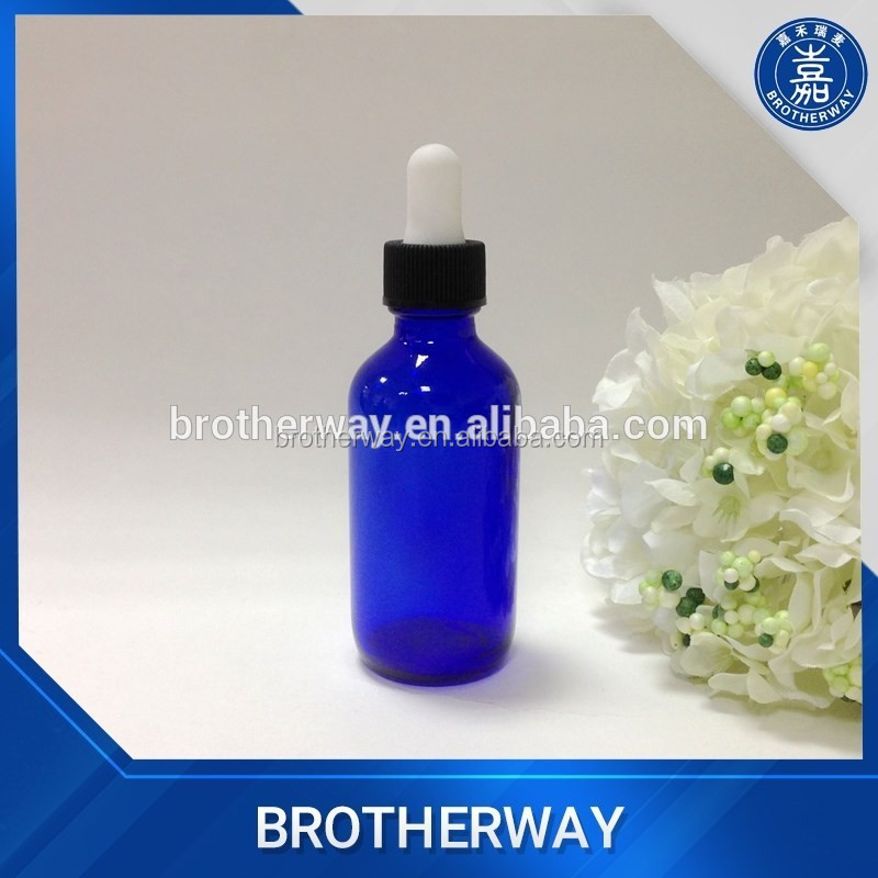 60ml cobalt blue boston glass bottle